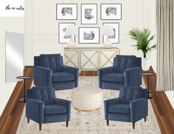 FROM DISUSED DINING ROOM TO LUXURY HOME LOUNGE - home lounge design