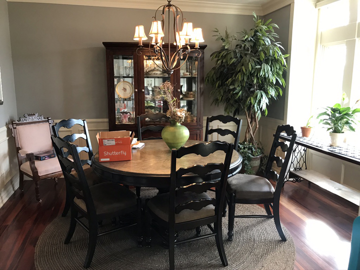 FROM DISUSED DINING ROOM TO LUXURY HOME LOUNGE - dining room