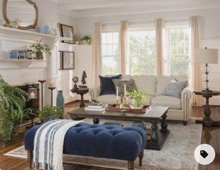 FROM DISUSED DINING ROOM TO LUXURY HOME LOUNGE - living room