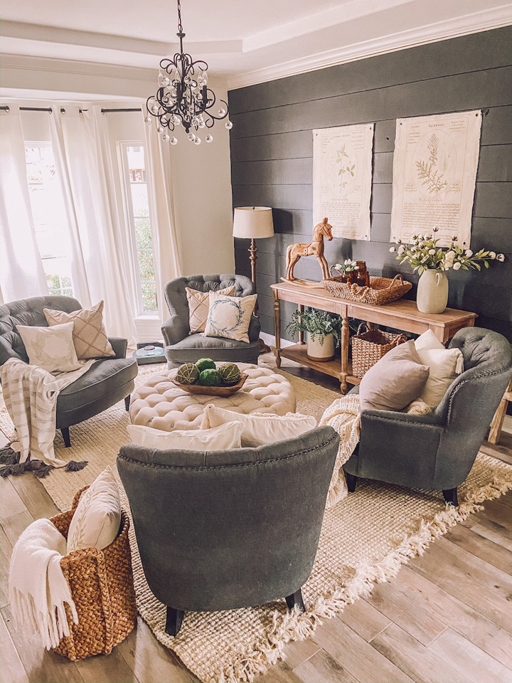 FROM DISUSED DINING ROOM TO LUXURY HOME LOUNGE - sitting room